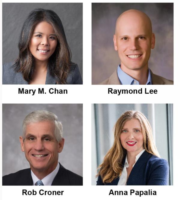 Mary M. Chan, Raymond Lee, Rob Croner, Anna Papalia